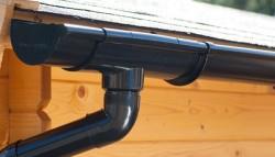 Dakgoot E100 Zwart - Lessenaarsdak